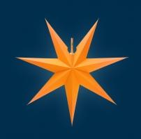 Erzgebirgischer Fensterstern No. 15, 54 cm Ø, orange
