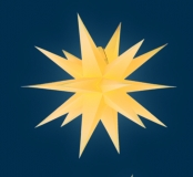 org. Annaberger Faltstern No. 3, 36 cm Durchmesser, gelb