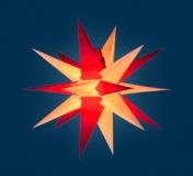 org. Annaberger Faltstern No. 3, 36 cm Durchmesser, rot-gelb