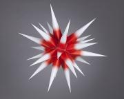 Stern i4 - 40cm Ø, weiss mit rotem Kern, orginal Herrnhuter