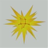 Stern i7 - 70cm Durchmesser gelb, orginal Herrnhuter
