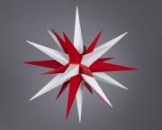 Stern i7 - 70cm Durchmesser  weiss-rot, orginal Herrnhuter
