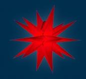 org. Annaberger Faltstern No. 7, 67 cm Durchmesser, rot